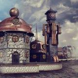 Ferrocarril de la fantasía stock de ilustración