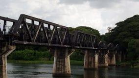 Ferrocarril de la muerte - el puente del río Kwai foto de archivo
