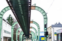 Ferrocarril de la suspensión de Wuppertal Fotografía de archivo libre de regalías