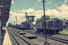 Ferrocarril de la vendimia Imágenes de archivo libres de regalías