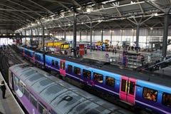 Ferrocarril de Leeds de los trenes múltiples diesel Fotografía de archivo
