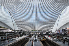 Ferrocarril de Liège-Guillemins, Bélgica Fotografía de archivo
