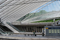 Ferrocarril de Liège-Guillemins, Bélgica Imagen de archivo
