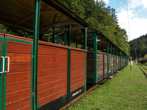 Ferrocarril de madera de Bieszczadska Imágenes de archivo libres de regalías