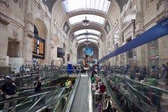 Ferrocarril de Milano Foto de archivo libre de regalías