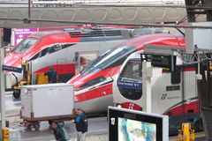 Ferrocarril de Milano Centrale Foto de archivo