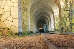Ferrocarril de mina viejo Fotos de archivo libres de regalías