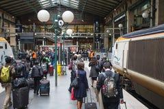 Ferrocarril de París Gare Du Nord Imagen de archivo