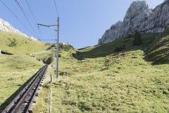 Ferrocarril de Pilatus, Suiza Imágenes de archivo libres de regalías