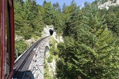 Ferrocarril de Pilatus, Suiza Foto de archivo libre de regalías
