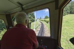 Ferrocarril de Pilatus, Suiza Imagenes de archivo