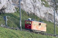 Ferrocarril de Pilatus, Suiza Fotos de archivo libres de regalías
