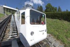 Ferrocarril de Pilatus, Suiza Imagen de archivo libre de regalías