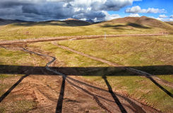 Ferrocarril de Qinghai-Tíbet Fotografía de archivo