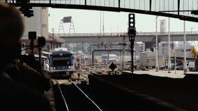 Ferrocarril de Retiro en Buenos Aires la Argentina metrajes