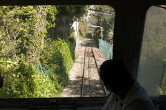 Ferrocarril de Tibidabo Finicular Fotografía de archivo libre de regalías