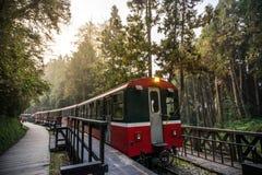 Ferrocarril del bosque de Alishan Fotografía de archivo libre de regalías