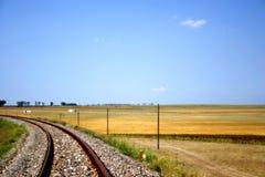 Ferrocarril del campo Foto de archivo libre de regalías