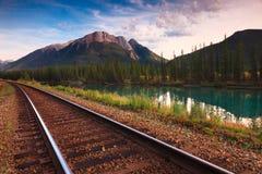Ferrocarril del canadiense del transporte Imagenes de archivo
