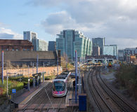 ferrocarril del Ciudad-centro Imagen de archivo libre de regalías