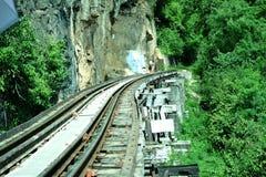 Ferrocarril del @Kanchanaburi de la muerte, Tailandia Fotografía de archivo libre de regalías