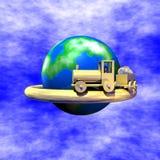 Ferrocarril del modelo de las finanzas del asunto Imagen de archivo libre de regalías