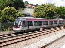 Ferrocarril del transporte público en Hong Kong Imagen de archivo libre de regalías