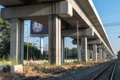Ferrocarril del tren de cielo Fotos de archivo libres de regalías