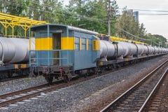 Ferrocarril del tren de Khonkaen imagenes de archivo