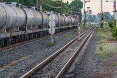 Ferrocarril del tren de Khonkaen Fotografía de archivo