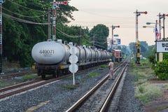 Ferrocarril del tren de Khonkaen Imagen de archivo libre de regalías