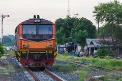 Ferrocarril del tren de Khonkaen fotografía de archivo libre de regalías
