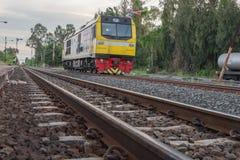 Ferrocarril del tren de Khonkaen fotos de archivo