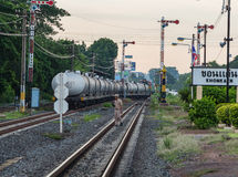 Ferrocarril del tren de Khonkaen imágenes de archivo libres de regalías