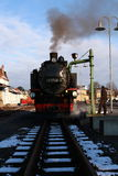 Ferrocarril del vapor - choo-choo, Sajonia, Alemania Imagen de archivo