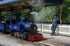 Ferrocarril del vapor de Exbury Imágenes de archivo libres de regalías