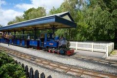 Ferrocarril del vapor de Exbury Imagenes de archivo