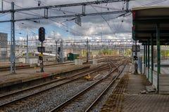 Ferrocarril desde arriba Fotos de archivo libres de regalías