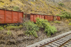 Ferrocarril en el del Diablo Trip Alausi Ecuador de Nariz Fotografía de archivo libre de regalías