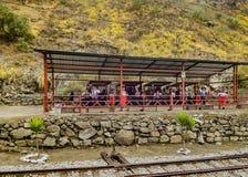 Ferrocarril en el del Diablo Trip Alausi Ecuador de Nariz Fotos de archivo libres de regalías