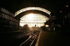 Ferrocarril en Haarlem Fotografía de archivo libre de regalías