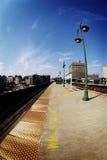 Ferrocarril en Harlem Foto de archivo