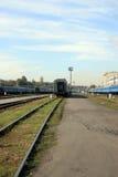 Ferrocarril en Kiev Imagenes de archivo
