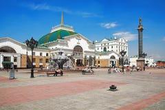 Ferrocarril en Krasnoyarsk imagen de archivo libre de regalías