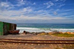 Ferrocarril en la bahía Imágenes de archivo libres de regalías