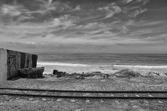 Ferrocarril en la bahía Foto de archivo libre de regalías