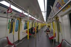 Ferrocarril en la estación de Mong Kok MTR en Hong Kong Imagen de archivo libre de regalías