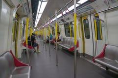 Ferrocarril en la estación de Mong Kok MTR en Hong Kong Foto de archivo