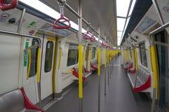 Ferrocarril en la estación de Mong Kok MTR en Hong Kong Imágenes de archivo libres de regalías