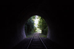 Ferrocarril en naturaleza Foto de archivo libre de regalías